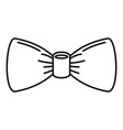 oldfashion bow tie icon outline style vector image