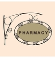 pharmacy retro vintage street sign vector image vector image