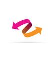 pink and orange arrow icon vector image