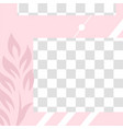 pink floral post cute abstract social media post vector image