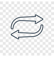 recycle concept linear icon isolated on vector image
