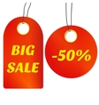 Sale tags or labels vector image
