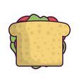 sandwich icon image vector image vector image