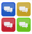 set of four square icons with speech bubbles vector image vector image