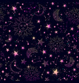 space galaxy constellation seamless pattern print vector image