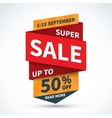 Super sale banner Discount label Shopping badge vector image vector image