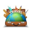 Tourist Suitcase vector image