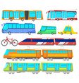 transport public bus or train transported vector image vector image