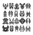 tribal tattoo designs and patterns vector image vector image