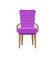 velvet armchair living room furniture interior vector image vector image