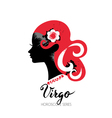 Virgo zodiac sign Beautiful girl silhouette vector image vector image