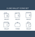 wallet icons vector image vector image