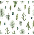 watercolor christmas seamless pattern vector image vector image