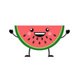 watermelon in flat styl vector image