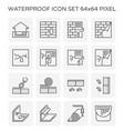 waterproof water leak vector image vector image