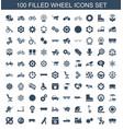 wheel icons vector image vector image