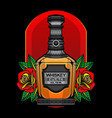 whisky flash tattoo vector image