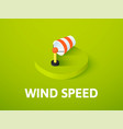 wind speed isometric icon isolated on color vector image vector image