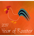 year of Rooster chinese calendar symbol on vector image