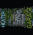 your garage a home office text background word vector image vector image