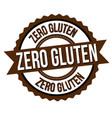 zero gluten label or sticker vector image