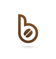 Letter B coffee logo icon design template elements vector image