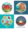 summer travel design concept vector image