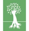 hand tree vector image