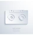 modern audio marketing background vector image