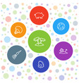 7 exotic icons vector image vector image