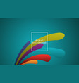 abstract background design with vibrant color vector image vector image