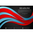 Abstract blue red corporate wavy background vector image