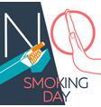 banner no smoking day linear vector image