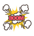 big boom with sparkle and dust isolated vector image vector image