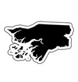 black silhouette of the country guinea bissau vector image vector image