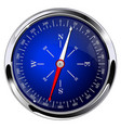 blue compass with metal frame vector image vector image