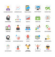 business management and growth flat icons set vector image vector image