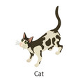 cat icon isometric style vector image vector image