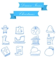 Christmas object icons of art vector image vector image