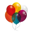 colorful balloons icon vector image vector image