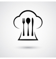 Cutlery with cap vector image vector image