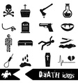 death theme set of black simple icons eps10 vector image vector image
