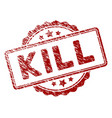 distress textured kill text stamp seal vector image