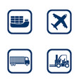 flat design icons export import set vector image vector image