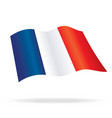 flying flag of france vector image vector image