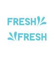 fresh icon blue spray water drop vector image vector image