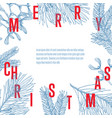 frosty christmas card vector image vector image