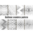halftone seamless pattern set dotted backdrop vector image vector image