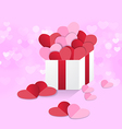 heart box sweet pink vector image vector image