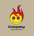Hot smile logo vector image